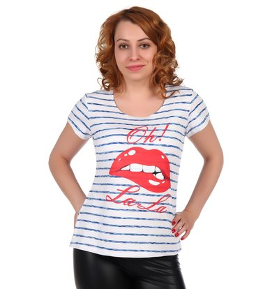 Жен. футболка арт. 16-0321 Голубой р. 44