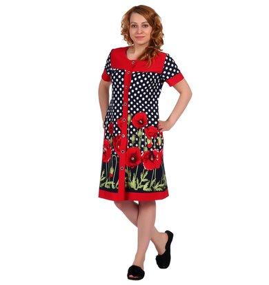 Жен. халат арт. 16-0328 Красный р. 46