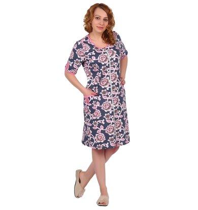 Жен. халат арт. 16-0331 Розовый р. 60