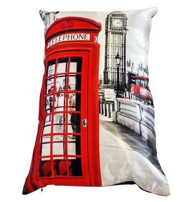 "Подушка ""Англия Лондон арт. 20-0166"" р. 35х55"
