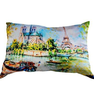 """Подушка """"Франция Париж арт. 20-0195"""" р. 35х55"""