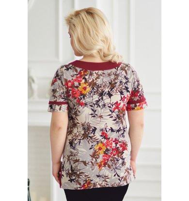 Жен. блуза арт. 19-0146 Бордо р. 48