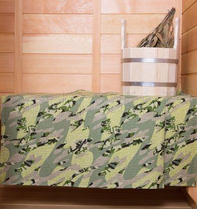 "Вафельное полотенце ""Камуфляж"" Хаки р. 50х70"
