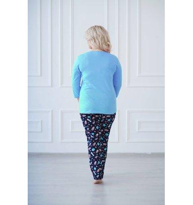"Жен. костюм ""арт. 19-0135 Голубой"" р. 56"
