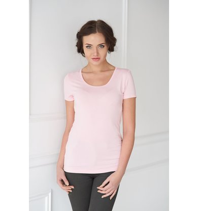 Жен. футболка арт. 19-0033 Розовый р. 44