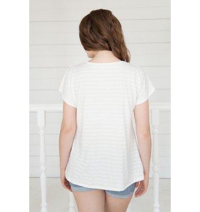 Жен. футболка арт. 19-0161 Молочный р. 48