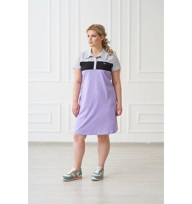 Жен. платье арт. 19-0157 Сирень р. 52