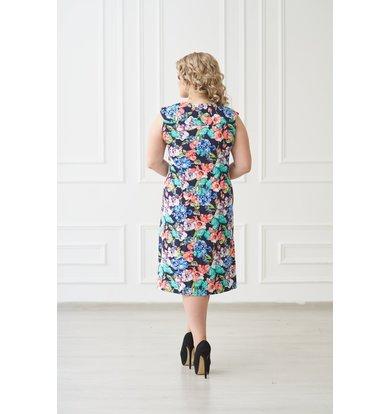 Жен. платье арт. 19-0138 Бабочки р. 60