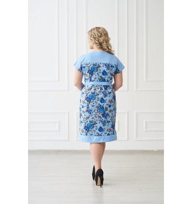 Жен. платье арт. 19-0139 Голубой р. 44