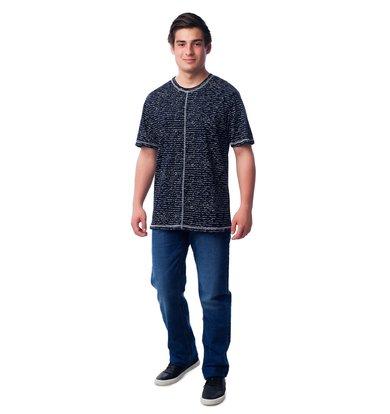 Муж. футболка арт. 16-0355 Темно-синий р. 50