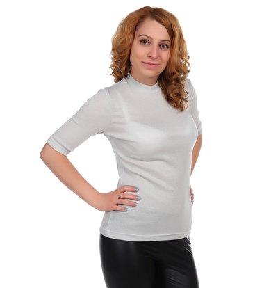 Жен. блуза арт. 16-0348 Серебро р. 46