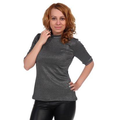 Жен. блуза арт. 16-0348 Черный р. 46