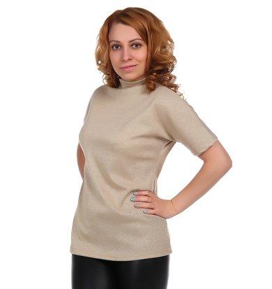 Жен. блуза арт. 16-0348 Золото р. 46