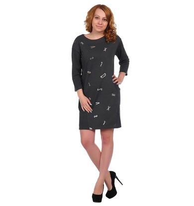 Жен. платье арт. 16-0337 Антрацит р. 46
