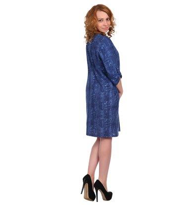 Жен. платье арт. 16-0345 Темно-синий р. 62