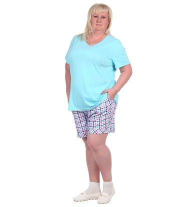 Жен. шорты арт. 16-0353 Голубой р. 50