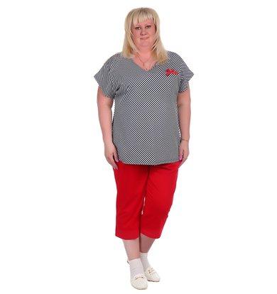 Жен. костюм арт. 16-0370 Красный р. 60