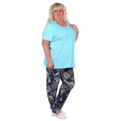 Жен. брюки арт. 16-0374 Синий р. 60