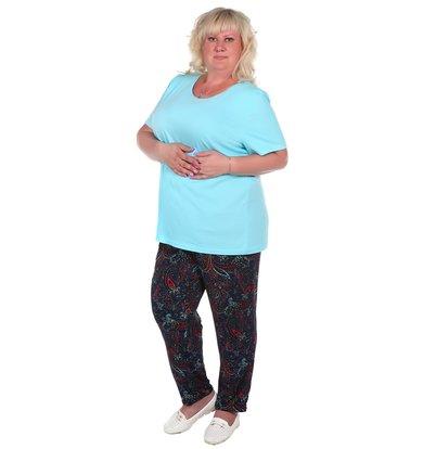 Жен. брюки арт. 16-0374 Темно-синий р. 60