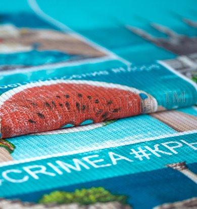 """Вафельное полотенце """"Крым"""" Голубой р. 90х150"""