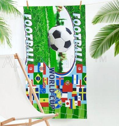 "Вафельное полотенце ""Спорт"" Зеленый р. 80х150"