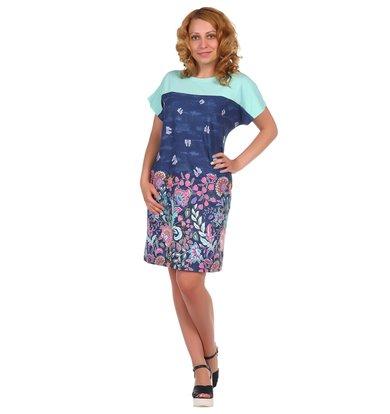 Жен. платье арт. 16-0387 Синий р. 50