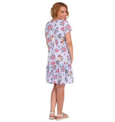 Жен. платье арт. 16-0389 Голубой р. 56