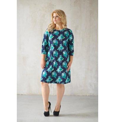 Жен. платье арт. 19-0072 Ментол р. 48