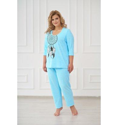 Жен. пижама арт. 19-0176 Бирюза р. 42