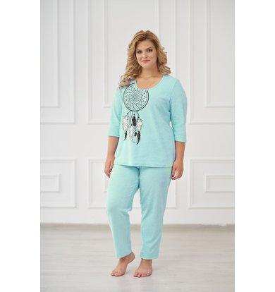 Жен. пижама арт. 19-0176 Ментол р. 56