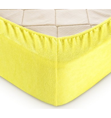 Простыня на резинке арт. 03-0767 Желтый р. 90х200