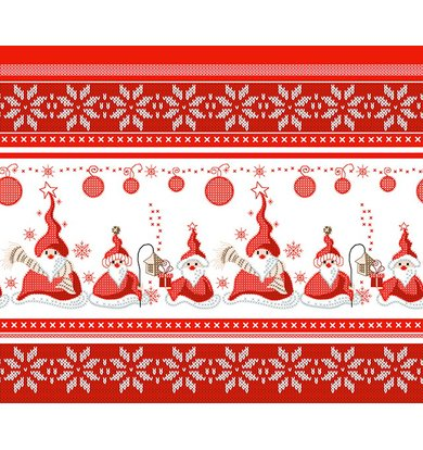 "Вафельное полотенце ""Санта"" Красный р. 50х60"
