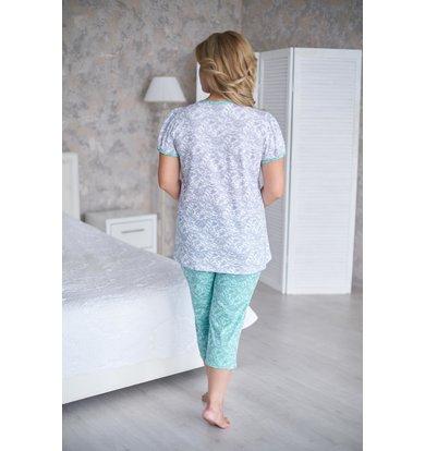 Жен. пижама арт. 19-0190 Ментол р. 48