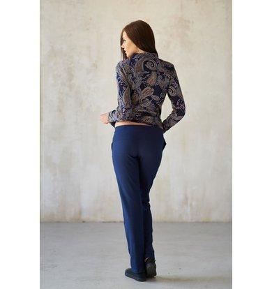 Жен. брюки арт. 19-0183 Синий р. 44