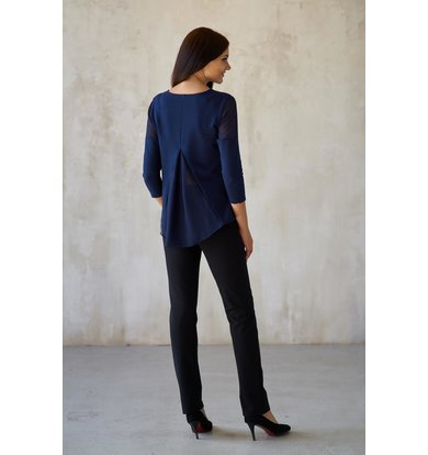 Жен. блуза арт. 19-0182 Синий р. 56