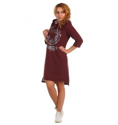 Жен. платье арт. 16-0395 Бордовый р. 44
