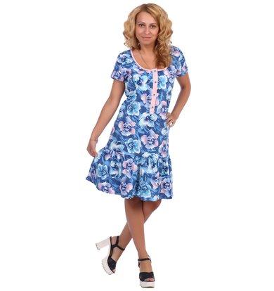 Жен. платье арт. 16-0396 Синий р. 56