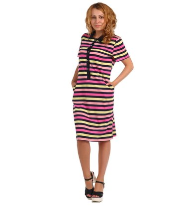 Жен. платье арт. 16-0397 Розовый р. 60