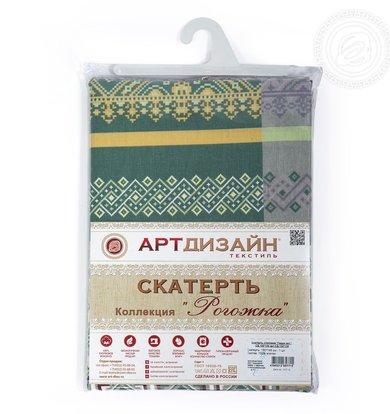 """Скатерть """"Герда"""" Зеленый р. 260х145"""
