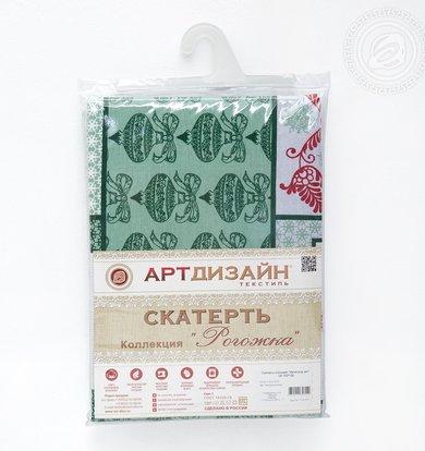 """Скатерть """"Метелица"""" Зеленый р. 120х145"""