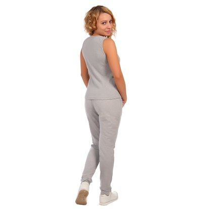 Жен. брюки арт. 16-0410 Серый р. 60