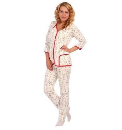 Жен. пижама арт. 16-0405 Красный р. 46