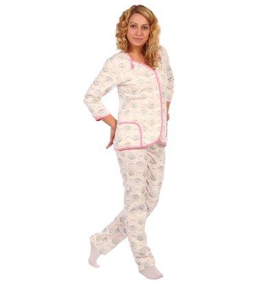 Жен. пижама арт. 16-0405 Розовый р. 46