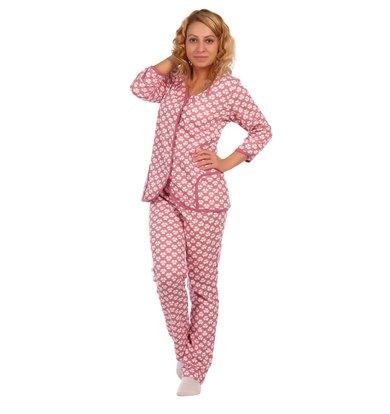 Жен. пижама арт. 16-0412 Брусника р. 58