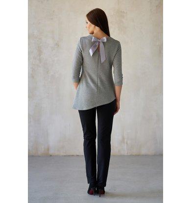 Жен. блуза арт. 19-0181 Серый р. 56