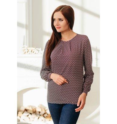 Жен. блуза арт. 19-0073 Красный р. 60