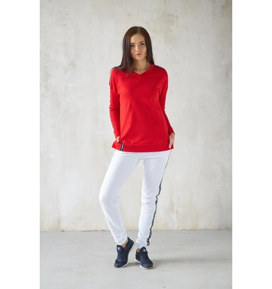Жен. костюм арт. 19-0185 Красный р. 52