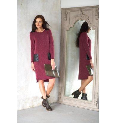 Жен. платье арт. 19-0206 Бордо р. 44