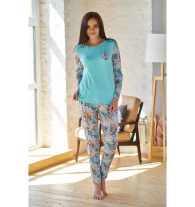 Жен. пижама арт. 19-0203 Бирюза р. 44