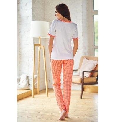 Жен. пижама арт. 19-0210 Оранжевый р. 56